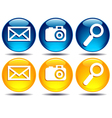 Search Picture Email icons vector image vector image