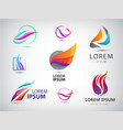 set abstract wavy energy power vector image vector image