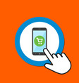 smartphone with shopping cart icon mobile vector image vector image