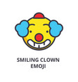 smiling clown emoji line icon sign vector image vector image