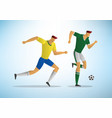 soccer players 08 vector image vector image