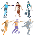 soccer vector image