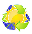 solar energy logo eco arrows vector image vector image