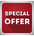 Special offer flat design icon for your business vector image vector image