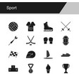 sport icons design for presentation graphic vector image vector image