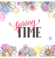 spring time greeting card vector image