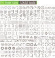 thin line icons set for UXUI prototypes vector image vector image