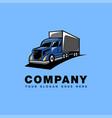 truck delivery cartoon mascot logo icon vector image vector image