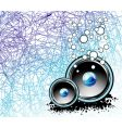 underwater music background vector image vector image