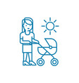 walking with mom linear icon concept walking with vector image vector image