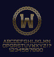 wavy patterned gold letters and numbers with w vector image vector image
