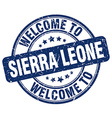 welcome to Sierra Leone vector image vector image