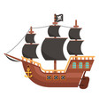 wooden pirate buccaneer filibuster corsair sea dog vector image vector image
