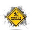 worn road sign Under construction with tools vector image vector image