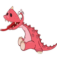 Cute red dragon Cartoon vector image