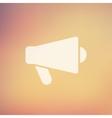Megaphone loudspeaker in flat style icon vector image