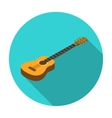 Acoustic guitar icon in flat style isolated on vector image
