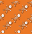 halloween festive seamless pattern with cookies vector image