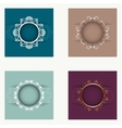 Set of round frames vector image