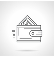 Purchase wallet flat line icon vector image