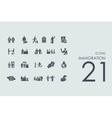 Set of immigration icons vector image