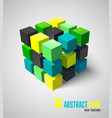 3d adstract cube vector image vector image