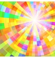 Abstract Colorful Circle Tunnel Background vector image vector image