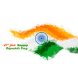 abstract indian flag design for republic day vector image vector image