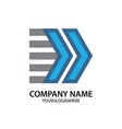 arrow business logo vector image vector image