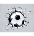 Ball breaking wall vector image vector image