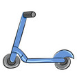 blue scooter on white background vector image vector image