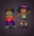 Boy and girl dancing vector image