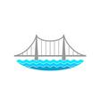 bridge over river logo vector image