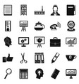 business support icons set simple style vector image vector image