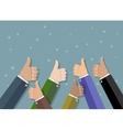 Businessman hold thumbs up vector image vector image