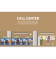 Call center interior with consultants for social vector image vector image