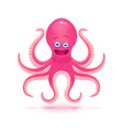 cartoon octopus isolated on vector image vector image