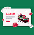 casino isometric concept banner vector image vector image