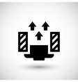 Ceiling ventilation icon vector image