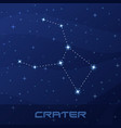 constellation crater cup night star sky vector image vector image