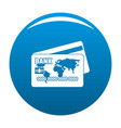 credit card icon blue vector image