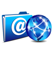 Email folder and communication internet world vector | Price: 1 Credit (USD $1)