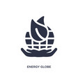 energy globe icon on white background simple vector image vector image