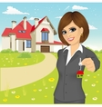 female real estate agent vector image vector image