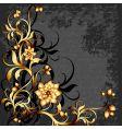 floral frame grunge vector image vector image