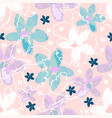 floral seamless pattern with hand drawn watercolor vector image vector image