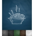 food icon Hand drawn vector image
