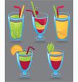 fresh funny drinks vector image