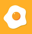 fried egg breakfast cartoon icon isolated flat vector image