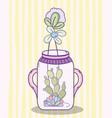 garden mason jar cartoon vector image